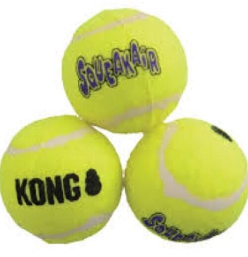 KONG SqueakyAir Tennis Balls  - 6 -   X-Small For Small Dogs And Puppies