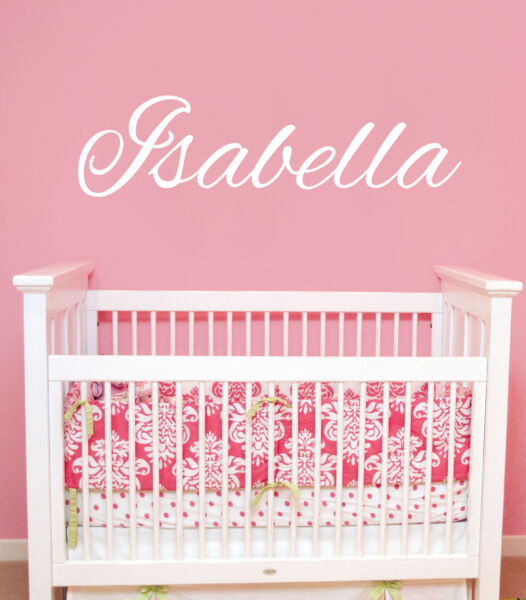 Girls Name Wall Decal Personalized Baby Name Vinyl Decal Sticker - Baby name wall decals
