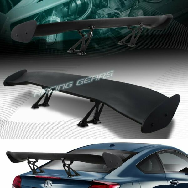 UNIVERSAL 57quot; WING DRAGON 2 STYLE BLACK ABS GT TRUNK ADJUSTABLE SPOILER WING $79.95