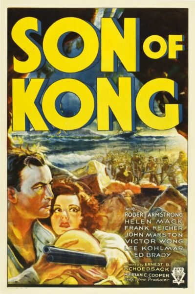 Son of Kong 1933  One Sheet o n Linen  Graded (8) by MP Grading  VF-   Style A