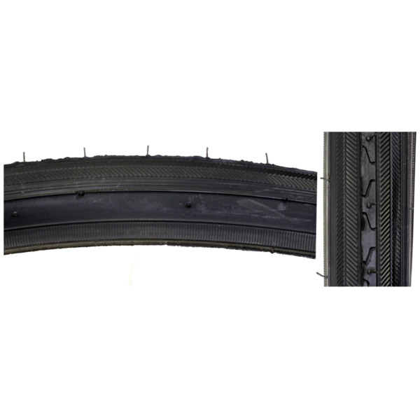 Sunlite Bicycle K35 Road Tire 27x1 1 4quot; Black Wire Clincher 630 ISO 27quot; Bike