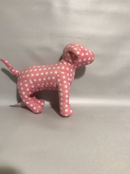 Victoria#x27;s Secret PINK Mini Dog Pink White Polkadots RARE Deal Gently Used $15.00
