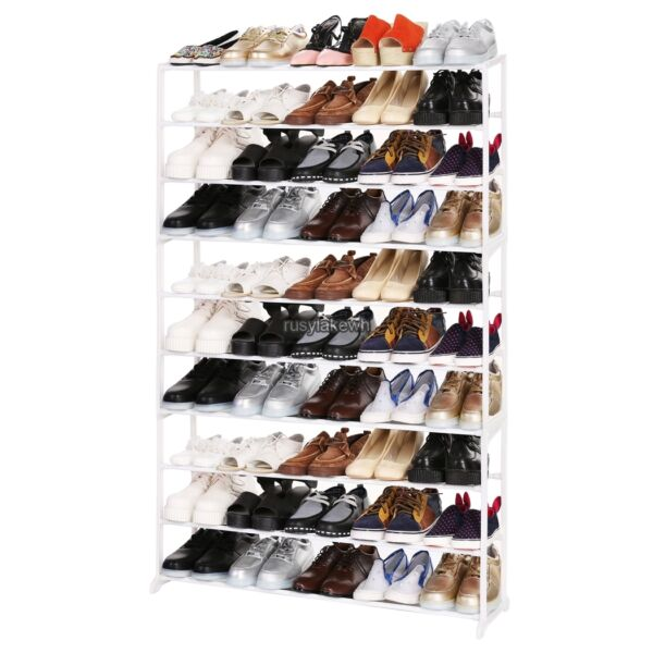 4 7 10 Tier Shoe Rack Storage Shelf Organizer 16~50Pair Holder Free Stand RLWH