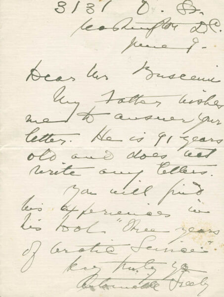 ANTOINETTE GREELY - AUTOGRAPH LETTER SIGNED CIRCA 1935
