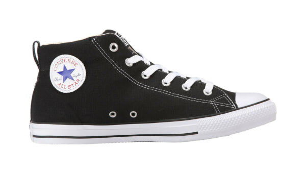 Converse Shoes Men Women Unisex All Star Chuck Taylor Street Mid Black Natural