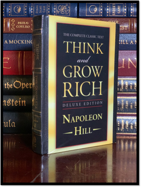 Think and Grow Rich by Napoleon Hill New Deluxe Hardcover Leather Bound Hardback