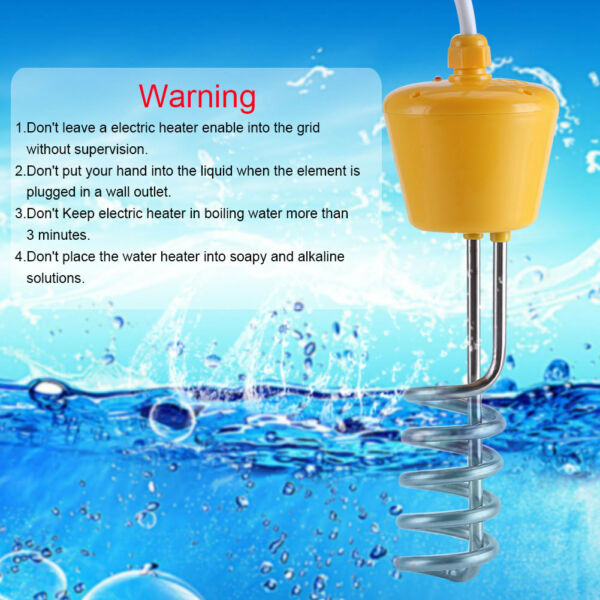 Water Heater Portable Electric Immersion Element Boiler Travel 220V 3000W CO