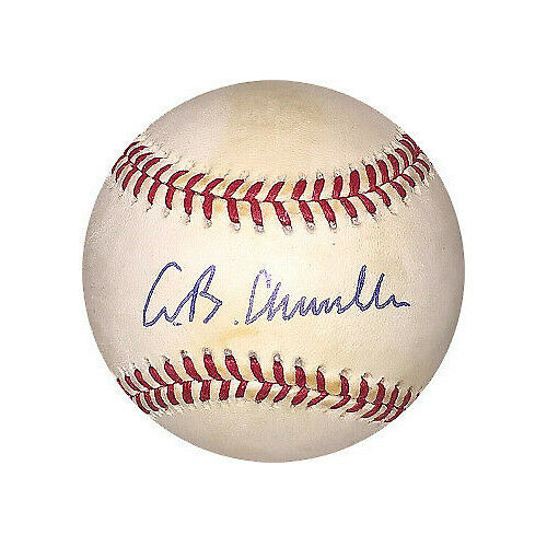 AB Chandler signed Official National League (Bill White) Baseball minor tone-JSA