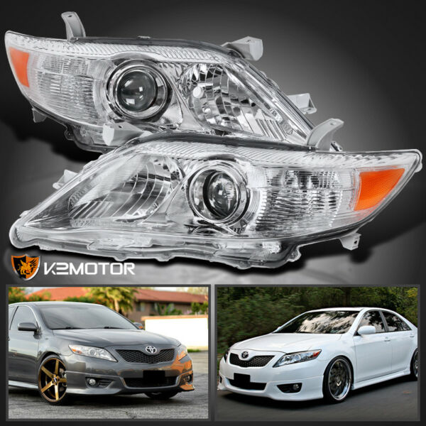 For 2010-2011 Toyota Camry Crystal Projector Headlights Left+Right Replacement