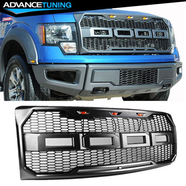 For 09-14 Ford F150 New Raptor Style Front Bumper Grille Hood Mesh Package ABS