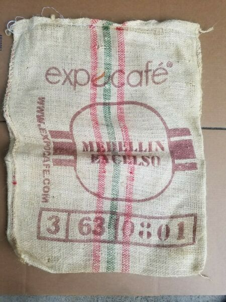 Product of Columbia Medellin Excelso Burlap Coffee Sack Bag