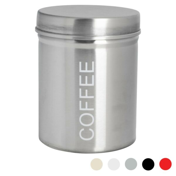 Coffee Storage Canister Kitchen Canisters Jars Pots Jar Container Metal Silver