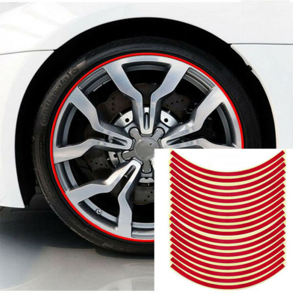 Car Accessories Car Stickers Red Trim Strips Motorcycle Decals Tyre Decoration