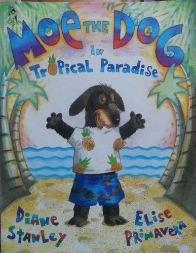 Moe the dog in tropical paradise Sandcastle $4.29