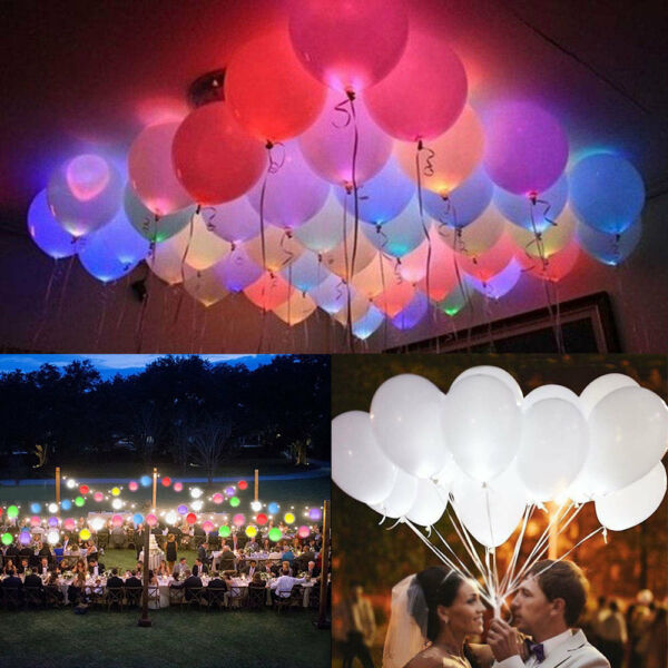 50-150 Pack LED Balloons Light Up Balloons PARTY Decoration Wedding Birthday NEW