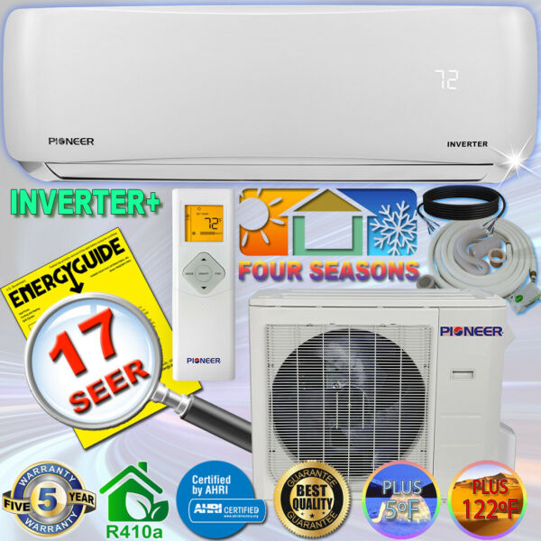 PIONEER 24000 BTU 17 SEER DC Inverter Ductless Mini Split Heat Pump Set 230V $1203.00