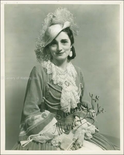 MARIE BURKE - INSCRIBED PHOTOGRAPH SIGNED CIRCA 1935
