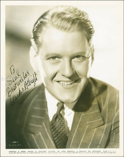 HARDIE ALBRIGHT - INSCRIBED PHOTOGRAPH SIGNED CIRCA 1935
