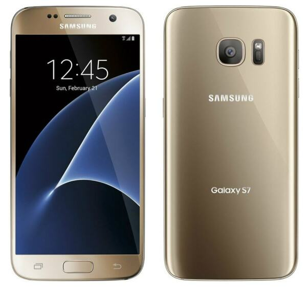 New Overstock Samsung Galaxy S7 SM-G930V  32GB Gold Platinum Verizon Smartphone