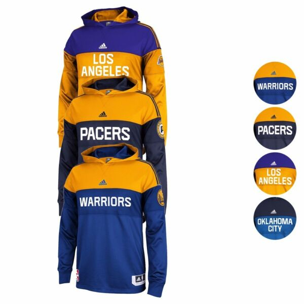 NBA 2014 Adidas Authentic On-Court Pre-Game Pullover Shooter Hoodie Men's