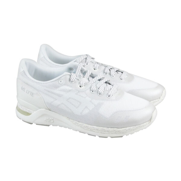 Asics Gel Lyte Evo Nt Mens White Mesh Athletic Lace Up Running Shoes