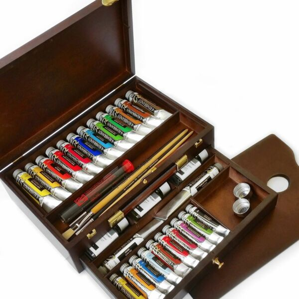Royal Talens - Rembrandt Oil Colour Box - Master Edition in Premium Wooden Chest
