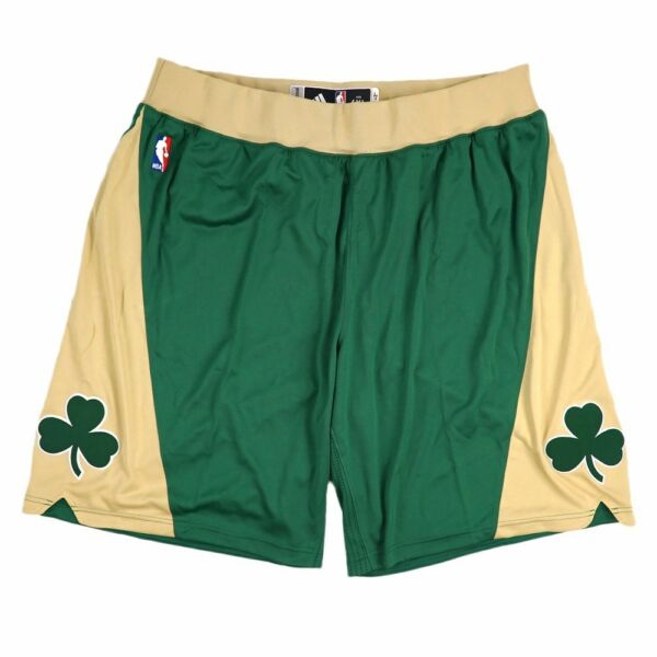 Boston Celtics Adidas Authentic Team Issued St Patricks Day Pro Cut Game Shorts