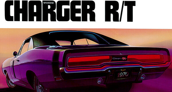 1970 Dodge Charger RT - Promotional Advertising Poster