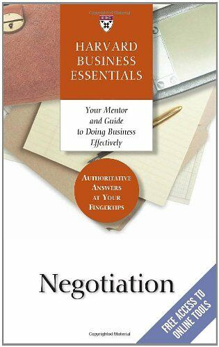 Negotiation Harvard Business Essentials Series
