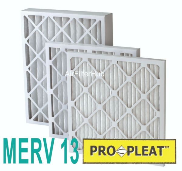 (12 PACK) PLEATED MERV 13 FURNACE FILTERS EXTENDED SURFACE PRO-PLEAT 1