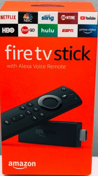 AMAZON FIRE TV STICK  WITH LATEST ALEXA VOICE REMOTE BRAND NEW
