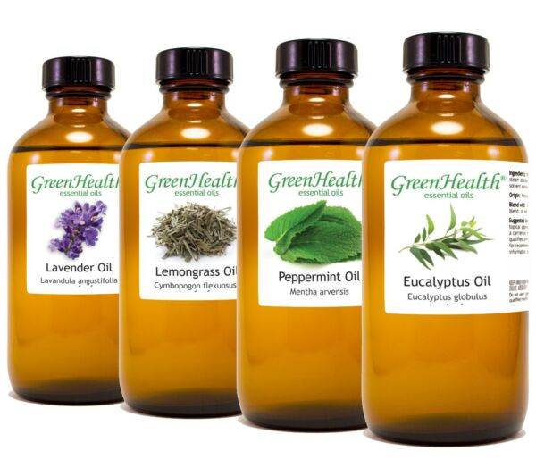 8 fl oz Essential Oil in Amber Glass, Free Shipping, 60+ Oils to Choose from
