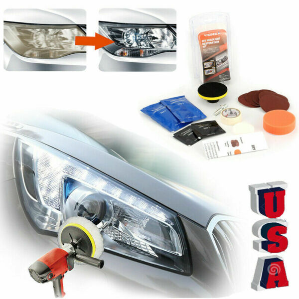 Car Headlight Lens Restoration System Professional Restorer Polishing Tool Kit