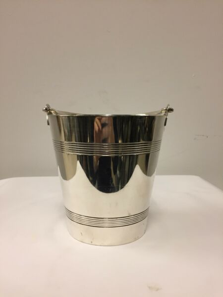 Antique English Silver Plated Ice Pail Circa 1925