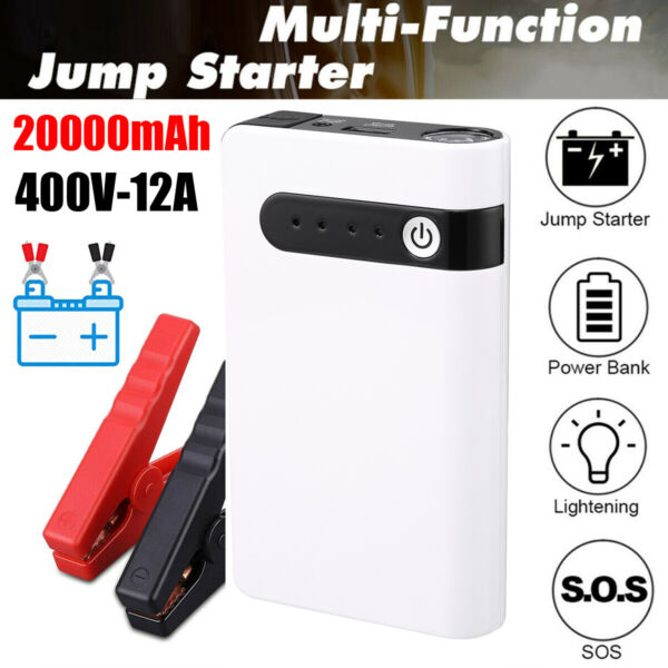 20000mAh 400A Car Jump Starter Auto Battery Booster Power Pack w Clamp Portable $36.99