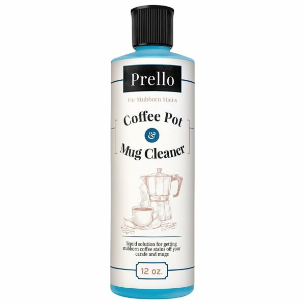 Prello Coffee Pot and Mug Cleaner  Removes Stains from Carafes Mugs Machines