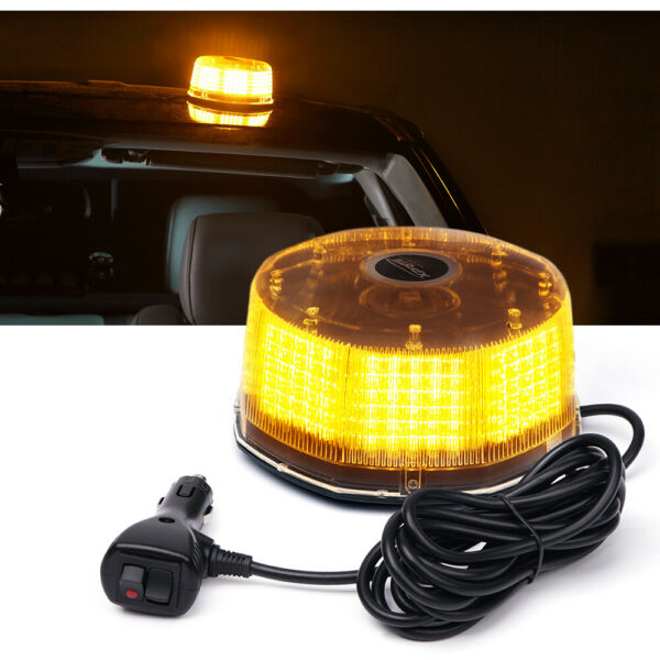 Xprite 240LED Rooftop Rotating Strobe Light Amber Emergency Hazard Beacon Yellow $26.99
