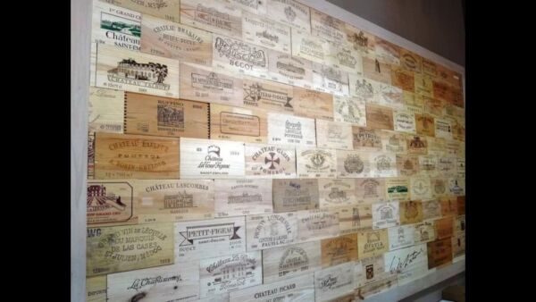 50 Assorted BRANDED WINE PANELS.  CRATE Box SIDE End Tops  Wood Diff.