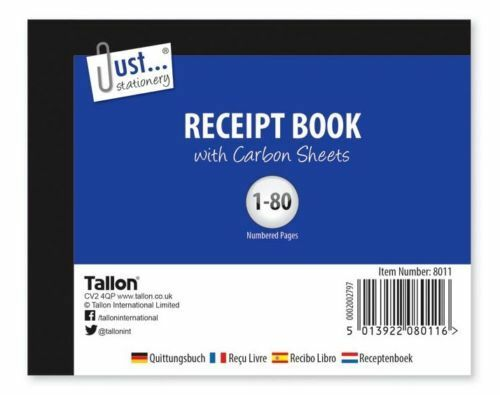 Half Size Receipt Book Invoice Pad 80 Pages With Carbon Sheets D3 GBP 1.95