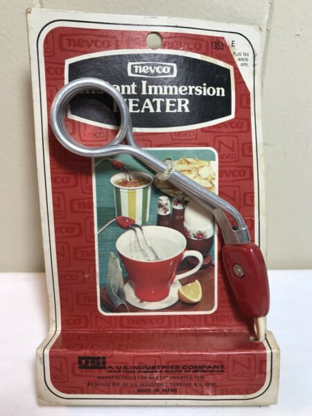 Vintage New Old Stock Nevco Instant Immersion Heater 1976 Coffee Cup Warmer 1353