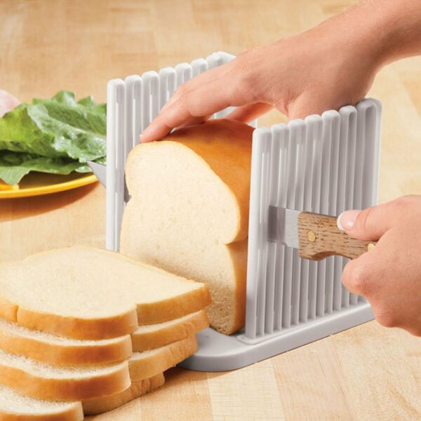 Bread Loaf Slicer Guide Kitchen Foldable Adjustable Slicing Cutter Toast Tool