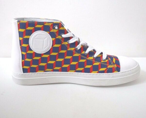New PIERRE HARDY Canvas Multi-Colored Fashion Designer's Sneakers 43 US-10