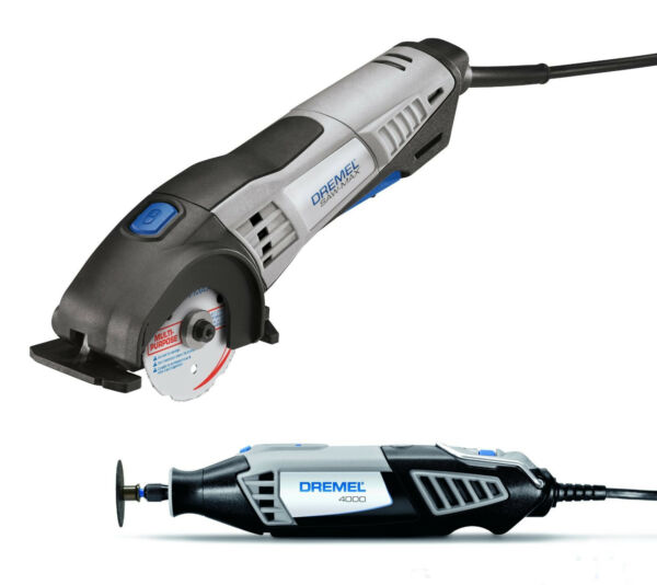 Dremel 4000 + SM20 Variable Speed Rotary Tool Kit & SawMax Two Tool Combo Pack