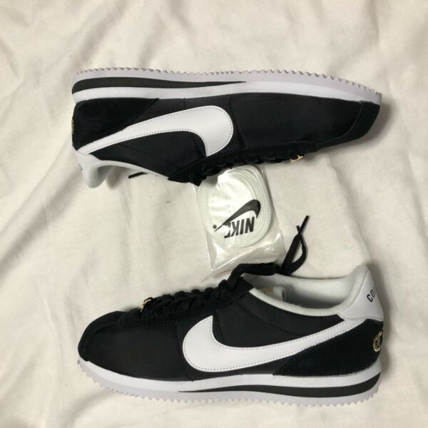 Nike Cortez Basic Nylon PRM Compton Sz 8.5 902804-001 Gold White XLV NO BOX TOP