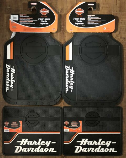 Harley Davidson Bar amp; Shield Stacked Front and Rear Car Truck Rubber Floor Mats $74.95