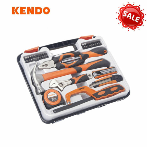 KENDO DIY 54PCS HOUSEHOLD TOOL SET CASE AUTO HOME REPAIR KIT UNIVERSAL MECHANICS