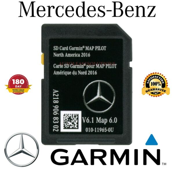 Mercedes-Benz B E CLA CLS GLA SLC Class Navigation SD Card GARMIN Map Pilot OEM