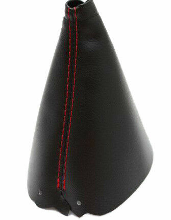Red Stitch Automatic Shift Boot Real Leather For 84-89 Chevrolet Corvette C4