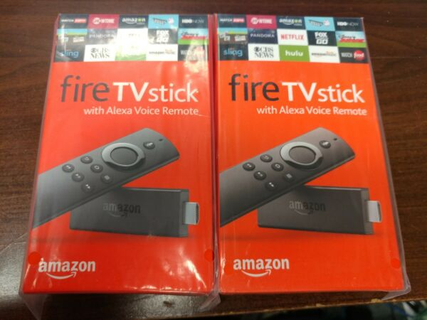 Two Amazon Fire TV Stick HD 2019 wAlexa Voice Remote 2x Lot $34.50 EACH!!!