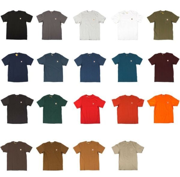 Carhartt - Men's Work Wear Pocket T-shirt, Cotton, Regular, Big, Tall Fit, K87